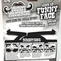 MIGHTY MOUSTACHE Wind Up Funny Glasses & Nose Face