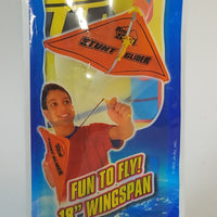 BLUE SKY STUNT GLIDER YELLOW FIGURE IN HAND-GLIDER LAUNCHING FLYING TOY