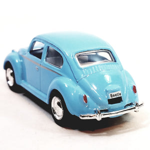 Kinsmart Volkswagen VW Classic 1967 Powder Blue Beetle 1/64 Scale Diecast Car
