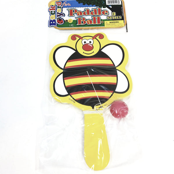 Backyard Fun Bumble Bee Shaped Paddle & Paddle Ball