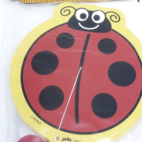 Backyard Fun Lady Bug Shaped Paddle & Paddle Ball