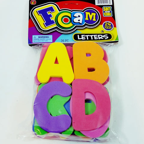 BIG FOAM Letters 26 Piece Alphabet Colorful Foam Preschool Educational Toy