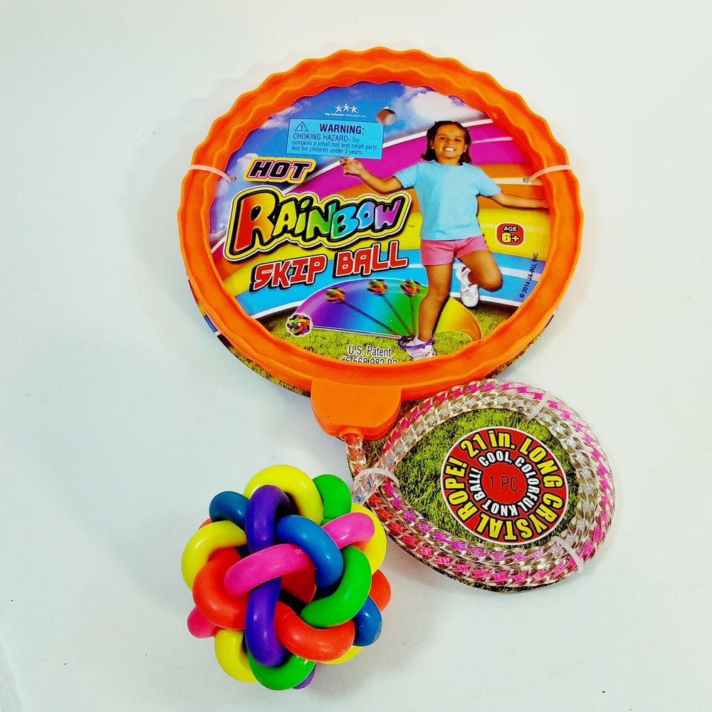 Hot Rainbow Skip Ball/Hopscotch/Jump Rope Kids Outdoor Playground Toy