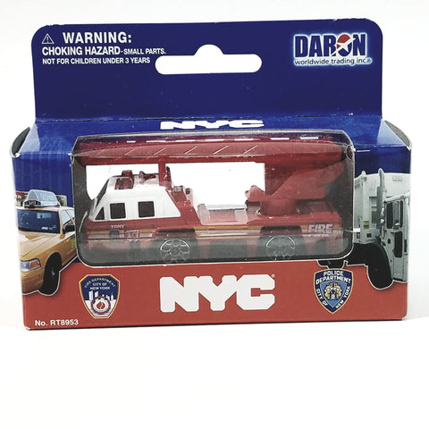 Daron FDNY Fire Dept Rescue Fire Engine 1/64 S Scale New York City Diecast Fi...
