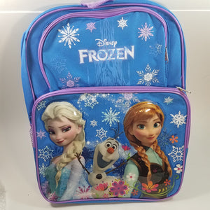 "New Frozen Light Blue Large 16"" School Bag/Knapsack/Backpack Elsa & Anna"