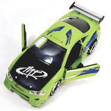 Jada Fast & The Furious Brian's Green 1995 Mitsubi  Eclipse 1/32 Scale Diecast Car