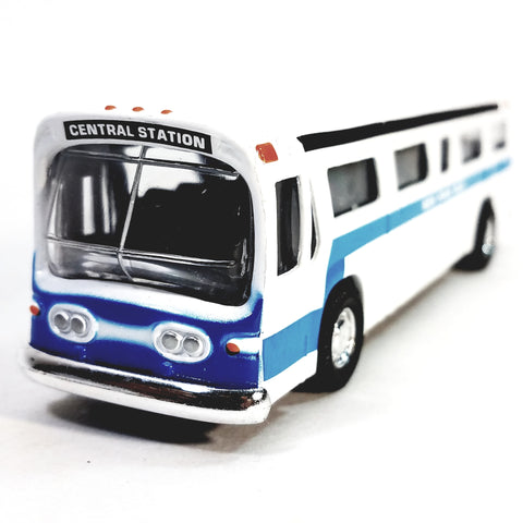 "Classic New York City Central Station White Passenger Bus 6""Diecast Commercia..."
