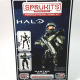 "Bandai Sprukit New Halo Spartan Master Chief Poseable 5"" Figure 109 Piece Lev..."