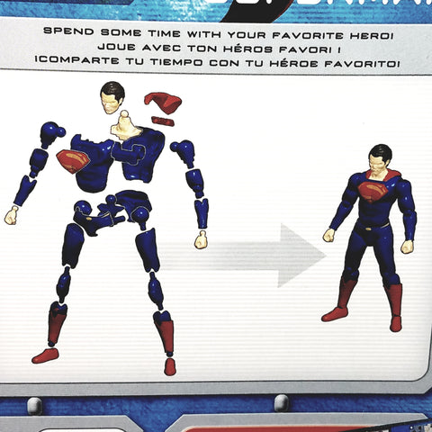 "Bandai Sprue-Kit DC Comic Superman : Man Of Steel Poseable 5"" Figure 85 Piece..."