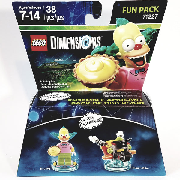 Lego Dimensions Krusty The Clown & Clown Bike  (The Simpsons) 3 in 1 Build Kit Fun Pack Over 30 Pieces