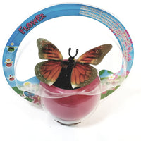 Red Butterfly Solar/Light Activated Flower Pot With 3D Grahics On Flapping...