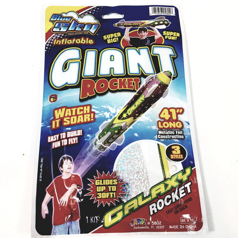 "Blue Sky GALAXY GIANT ROCKET Self Propelling 41"" Inflatable/Reusable Flying R..."