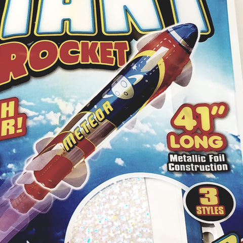 "Blue Sky METEOR GIANT ROCKET Self Propelling 41"" Inflatable/Reusable Flying R..."