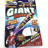 "Blue Sky Star  Flyer  GIANT Rocket  41"" Inflatable/Reusable Toy"