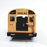 "SF Toys Classic Large  Yellow Public City School Bus 8.5"" Diecast Commercial Passenger Vehicle"