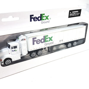 DARON/REALTOY Fedex Ground Semi Tractor Trailer Delivery Truck  10 Wheels  1/87 HO Scale Diecast Truck