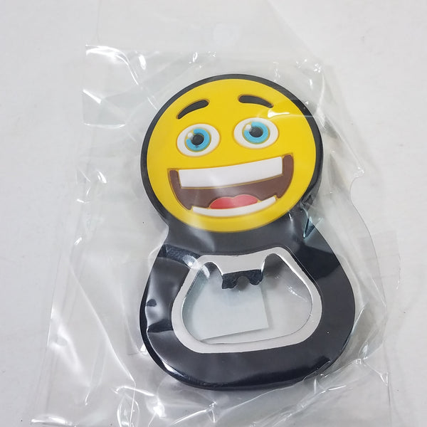 EMOJI Bottle Opener/Refridgerator Magnet Yelling Happy Face
