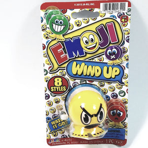 "EMOJI 3"" Wind Up Toy Yellow Angry Face Figure"