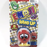 "EMOJI 3"" Wind Up Toy Red Sad Face Figure"