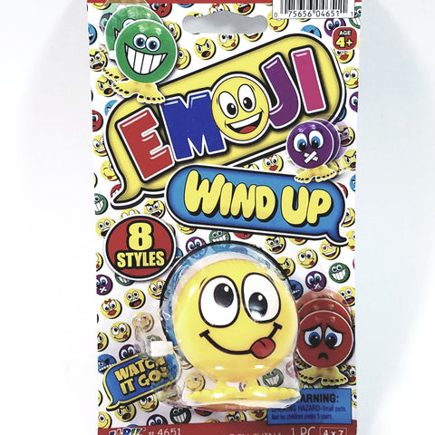 "EMOJI 3"" Wind Up Toy Tongue Out Silly  Face Figure"