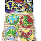 FOAM PUZZLE 4 Piece Educational Dinosaur,Aquarium,and Zoo Animals Puzzle Sets