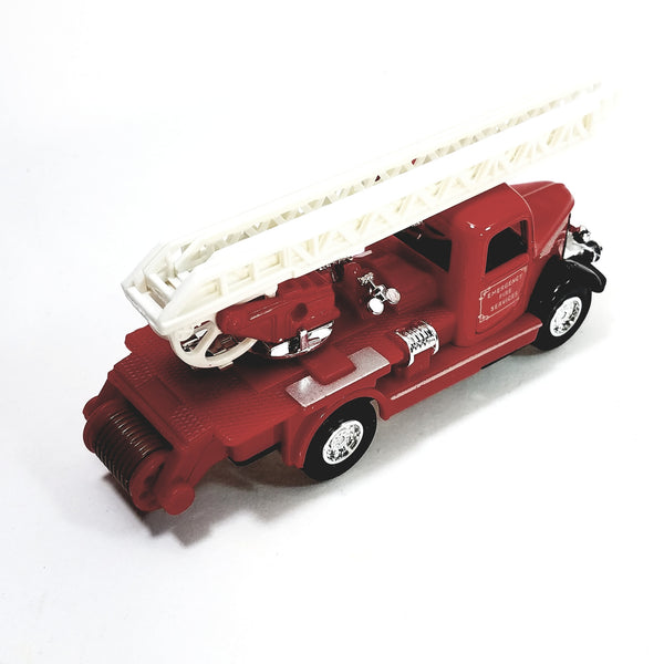 "Showcasts Classic Red & Silver Fire Engine with Extension Ladder 6"" Diecast F..."