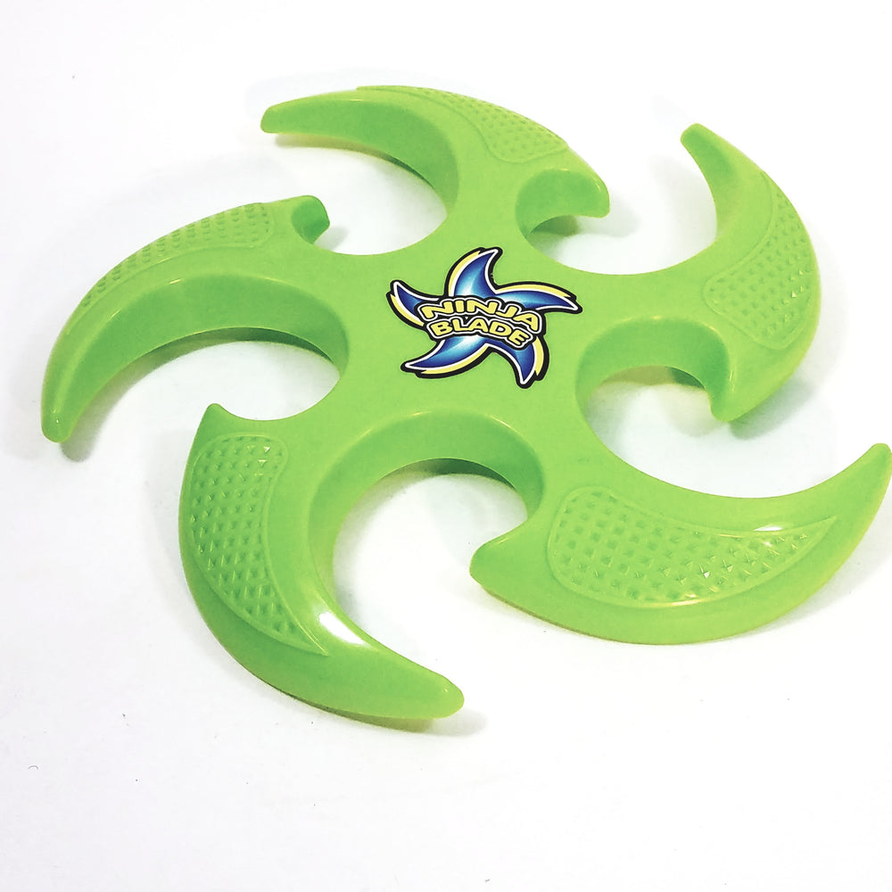 Go Flyer Green Ninja Star Shaped Frisbee Flying Disc Toy