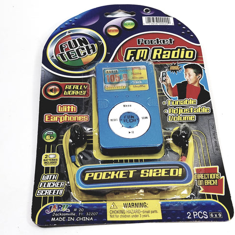 Fun TECH Kid's Fully Functional Pocket FM Radio