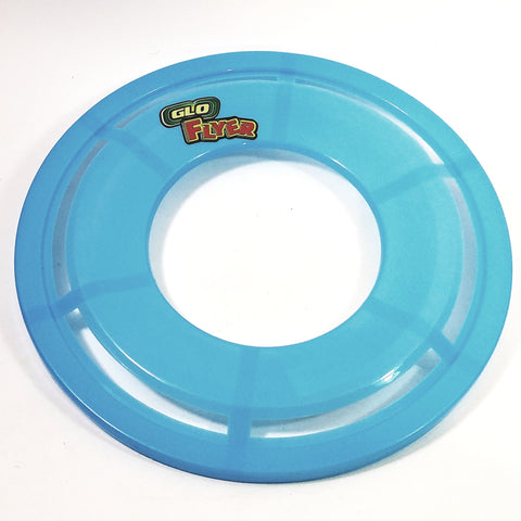 Go Flyer Glow In The Dark Blue Frisbee With Words Flying Disc Toy