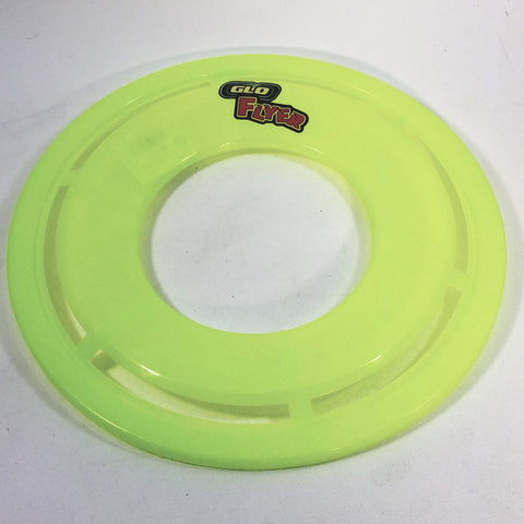 Go Flyer Glow In The Dark Green Frisbee With Words Flying Disc Toy