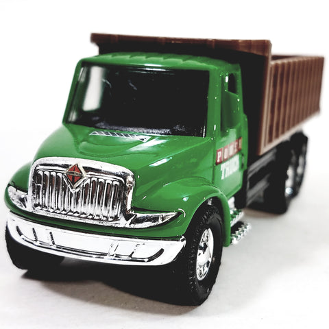 "Showcasts International Green Stake Bed Truck 5"" Diecast Commercial Vehicle"