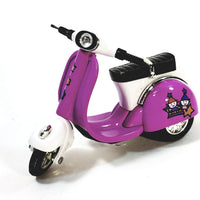 "Sunnyside Purple 2010 Vespa Scooter 1/18 Scale 4"" Diecast"