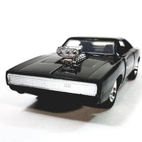 Jada Fast & The Furious Dom's 1970 Black Charger with Engine Blower 1/32 Scal...