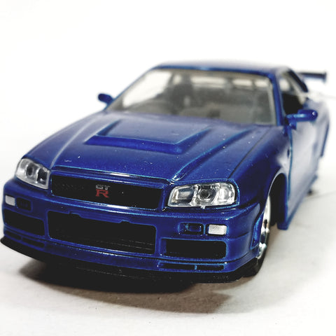 Jada Fast & The Furious Brian's Blue Nissan GT-R Hardtop 1/32 Scale Diecast Car