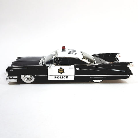 Jada HEAT  1957 Black & White Police Chevy Bel Air 1/24 G Scale Diecast Squad Car