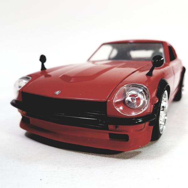 Jada Bigtime Red 1972 Datson 240Z Fairlady 1/24 Scale Diecast Car