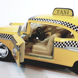 Kinsmart 1957 Chevy Bel Air Checker Yellow Taxi 1/40 O Scale Diecast