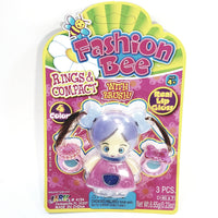 Fashion Bee Rings & Girl Shaped Compact 3 Piece See Through Ice Cream Cone Case Lip Gloss