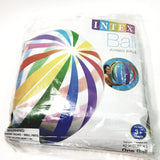 "INTEX Rainbow Stripes Jumbo Ball 42"" Diameter Inflatable Pool/Beach Ball"