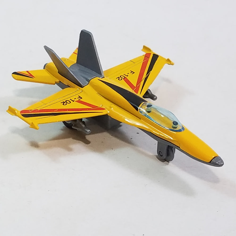 Real Wheels REAL WHEELZ Yellow F-102 Convair Delta Dagger Fighter Jet Plane 6