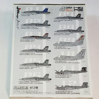 J-Wings Navy & Marine Freak CFR103 F/A-18D Hornet Bats LV Military Aircraft 1/144 Scale Airplane Kit