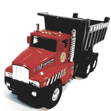 "Red International Large Dump Truck 5"" Scale Commercial Construction Diecast"