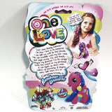 One Love Mini Pink With Blue Hair Unicorrn Doll Set With Brush & Barrete
