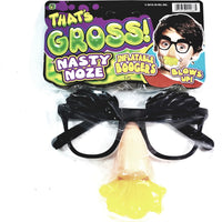 Thats Gross Glasses With Green Slimey Looking Nasty Nose Inflatable Snot Boogers