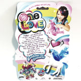 One Love White With Purple Hair Unicorrn Doll Set With Brush