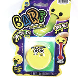 EMOJI BARF Yellow Surprised Face With Green Slime Squishy Slime Ball With 1 Packet .53oz Of Goop