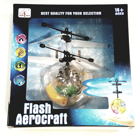 Flash Aerocraft Infra Red Sensor Flashing Multi Color Lights Helicopter Face Remote Control Helicopter R/C Copter Heli Ball