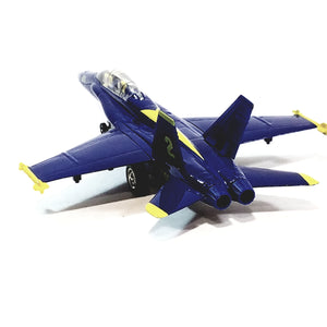 "X-Force Commander Blue Angels US Navy Boeing F/A-18 Hornet Demo Squad Aircraft 9"" Large Diecast Plane"