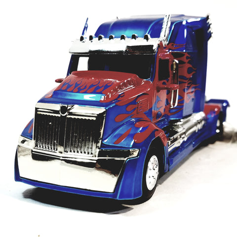 Jada Transfomers Blue & Red Western Star 5700 XE Phantom Optimus Prime 1/3 Scale Diecst TrucK