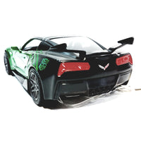 Jada Transfomers Lime Green 2016 Chevy Corvette Crosshairs 1/32 Scale Diecst Car